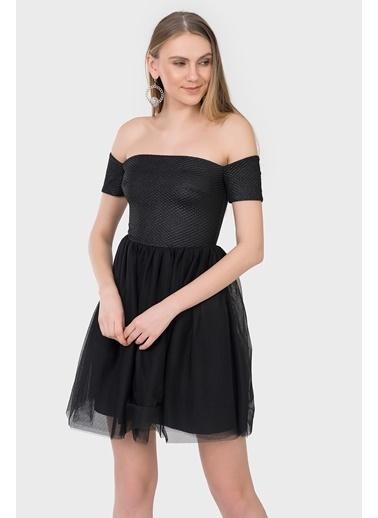 İroni Tütü Elbise Siyah